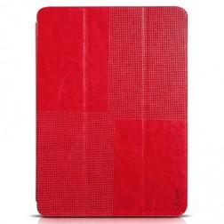 """""""HOCO"""" Crystal atvēramais ādas futrālis - sarkans (Galaxy Tab S 10.5)"""