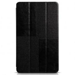 """""""HOCO"""" Crystal atvēramais ādas futrālis - melns (Galaxy Tab S 8.4)"""
