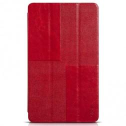 """""""HOCO"""" Crystal atvēramais ādas futrālis - sarkans (Galaxy Tab S 8.4)"""