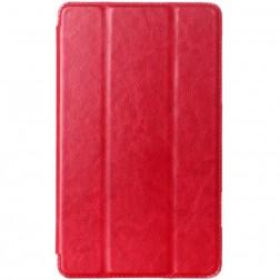 Atvēramais ādas maciņš - sarkans (Galaxy Tab S 8.4)