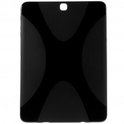 Cieta silikona (TPU) apvalks - melns (Galaxy Tab S2 9.7 / Galaxy Tab S2 VE 9.7)