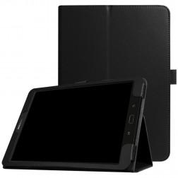 """""""Litchi"""" atvēramais maciņš - melns (Galaxy Tab S3 9.7)"""