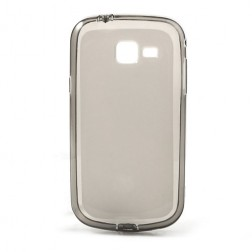 Cieta silikona futrālis - pelēks (Galaxy Trend II)