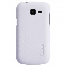 """Nillkin"" Frosted Shield apvalks - balts + ekrāna aizsargplēve (Galaxy Trend Lite)"