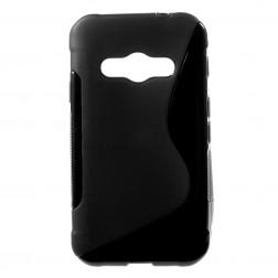 Cieta silikona (TPU) apvalks - melns (Galaxy Xcover 3)