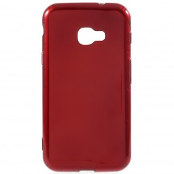 Cieta silikona (TPU) apvalks - sarkans (Galaxy Xcover 4)