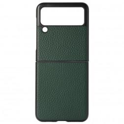"""""""Deluxe Leather"""" apvalks - zaļš (Galaxy Z Flip3)"""