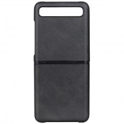 """Slim Leather"" apvalks - melns (Galaxy Z Flip)"