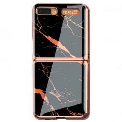 """GKK"" Marble plastmasas apvalks - melns (Galaxy Z Flip)"