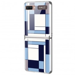"""""""GKK"""" Pattern plastmasas apvalks - zils (Galaxy Z Flip)"""