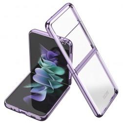 """""""GKK"""" plastmasas dzidrs apvalks - violeta (Galaxy Z Flip3)"""