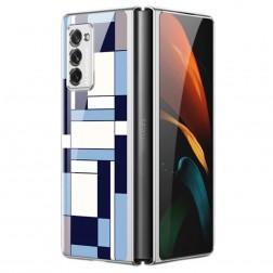 """""""GKK"""" Pattern plastmasas apvalks - zils (Galaxy Z Fold2)"""