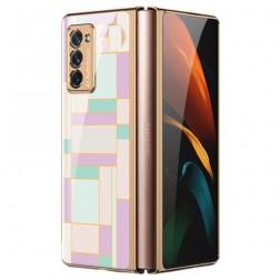 """""""GKK"""" Pattern plastmasas apvalks - violeta (Galaxy Z Fold2)"""
