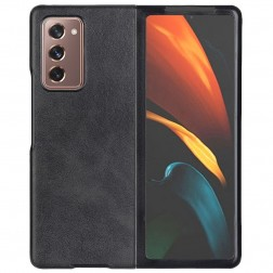 """Slim Leather"" apvalks - melns (Galaxy Z Fold2)"