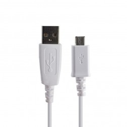"""Samsung"" micro USB vads - balts (0,8 m.)"