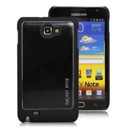 Slīpēta metāla apvalks - melns (Galaxy Note)