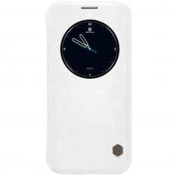 """Nillkin"" Qin atvēramais maciņš - balts (Galaxy S7 Edge)"