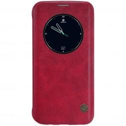 """Nillkin"" Qin atvēramais maciņš - sarkans (Galaxy S7 Edge)"