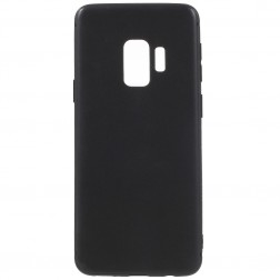 Cieta silikona (TPU) apvalks - melns (Galaxy S9)