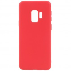 Cieta silikona (TPU) apvalks - sarkans (Galaxy S9)