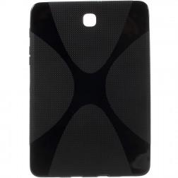 Cieta silikona (TPU) apvalks - melns (Galaxy Tab S2 8.0)