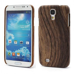 """Koka"" apvalks - tumša koka (Galaxy S4)"