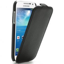Vertikāli atvēramais futrālis - melns (Galaxy S4 mini)