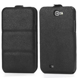 Vertikāli atvēramais futrālis - melns (Galaxy Note 2)