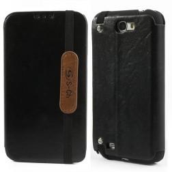 """""""S-Ch"""" atvēramais maciņš - melns (Galaxy Note 2)"""