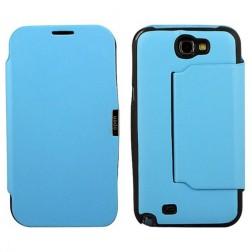 Atvēramais futrālis - gaiši zils (Galaxy Note 2)