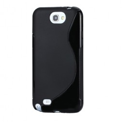 Cieta silikona futrālis - melns (Galaxy Note 2)
