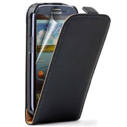 Klasisks atvēramais futrālis - melns (Galaxy S3)