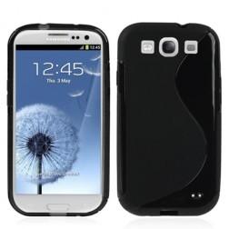 Cieta silikona futrālis - melns (Galaxy S3)