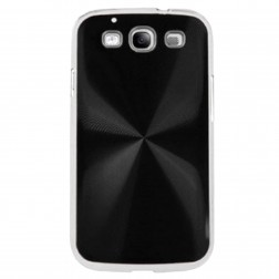 CD stila apvalks - melns (Galaxy S3)