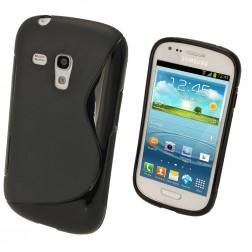 Cieta silikona futrālis - melns (Galaxy S3 mini)