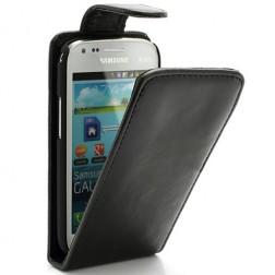 Klasisks atvēramais futrālis - melns (Galaxy S Duos / Trend)