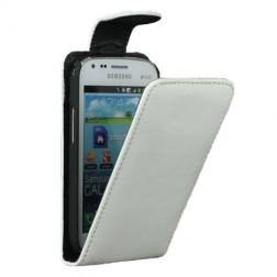Klasisks atvēramais futrālis - balts (Galaxy S Duos / S Duos 2 / Trend / Trend Plus)