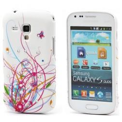 Plastmasas, krāsains apvalks - rozs (Galaxy S Duos / Trend)