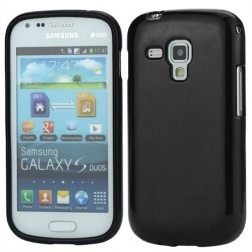Cieta silikona futrālis - melns (Galaxy S Duos / Trend)