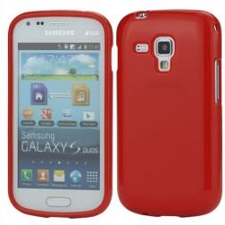 Cieta silikona futrālis - sarkans (Galaxy S Duos / Trend)