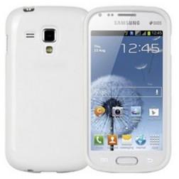 Cieta silikona futrālis - balts (Galaxy S Duos / Trend)