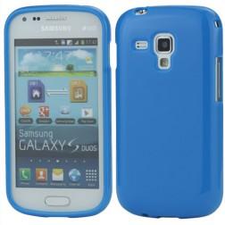 Cieta silikona futrālis - zils (Galaxy S Duos / Trend)