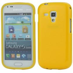 Cieta silikona futrālis - dzeltens (Galaxy S Duos / S Duos 2 / Trend / Trend Plus)