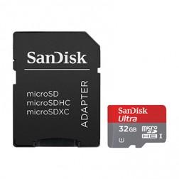 """SanDisk"" MicroSD atmiņas karte - 32 Gb (10 Klase) + SD adapteris"