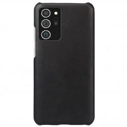 Slim Leather ādas apvalks - melns (Galaxy Note 20)