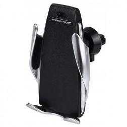 """""""Smart Sensor"""" S5 automašīnas telefona turētājs (lādētājs) - melns"""