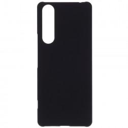 Matēts plastmāsas futrālis - melns (Xperia 10 II)