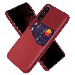 """KSQ"" Shell ādas apvalks - sarkans (Xperia 1 III)"