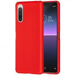 """Shell"" cieta silikona (TPU) apvalks - sarkans (Xperia 10 II)"