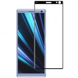 """""""Mocolo"""" Tempered Glass pilnīgi aizsedzams ekrāna aizsargstikls 0.2 mm - melns (Xperia 10)"""